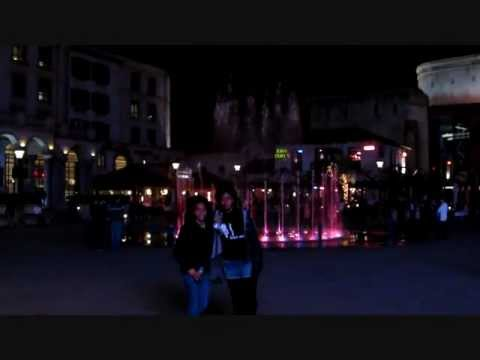Nicole and Makayla at the dancing fountain Montecasino May 2012