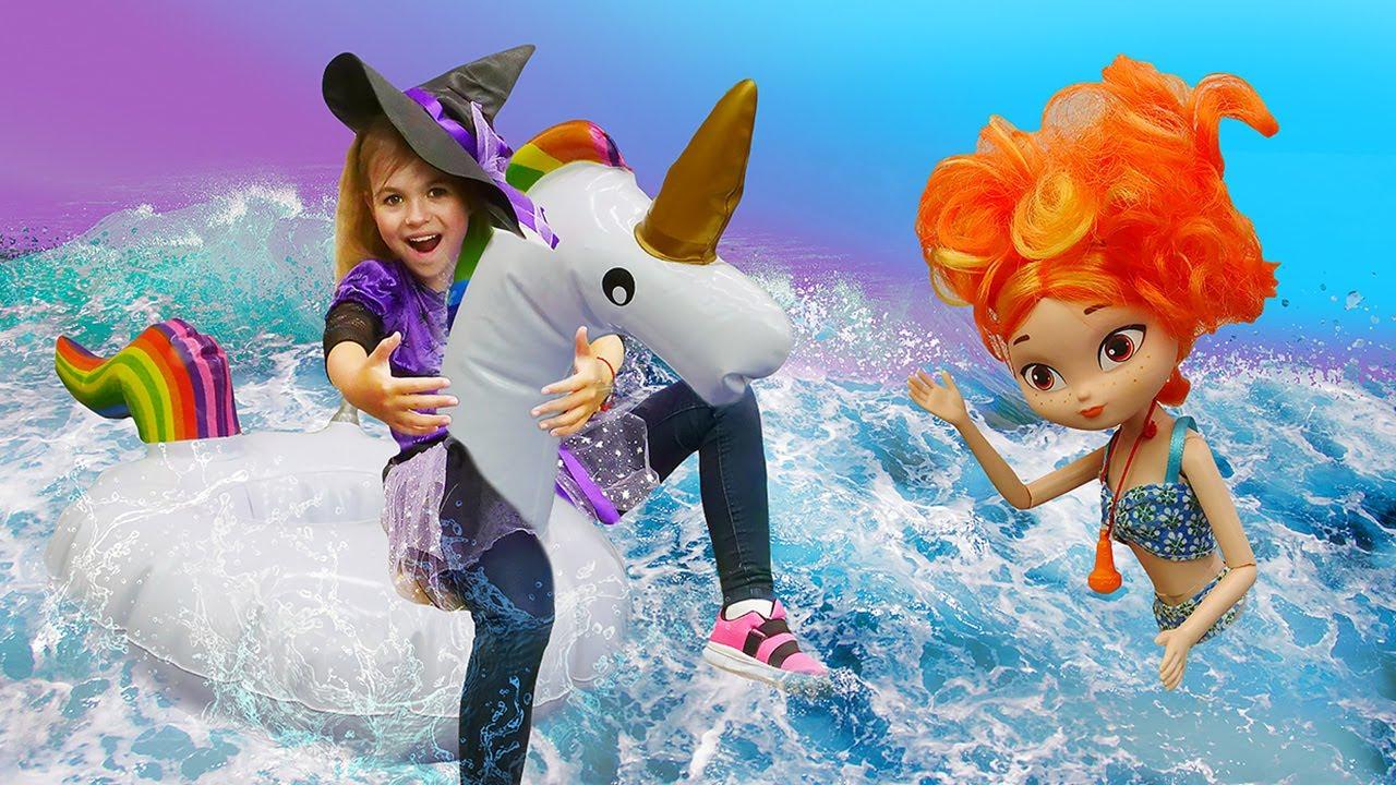 Сказочный патруль и Барби на пляже - Классные видео для девочек про волшебницу