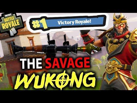 THE SAVAGE WUKONG!! LANDING RANDOM PLACES | FORTNITE BATTLE ROYALE