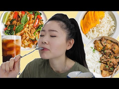 Cooking & Eating Only Thai Food for 24 Hours ??  Easy + Vegan Recipes