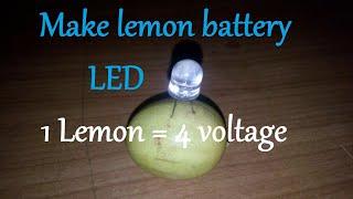 lemon batteryglow led using a single lemon 4 voltage in one lemon
