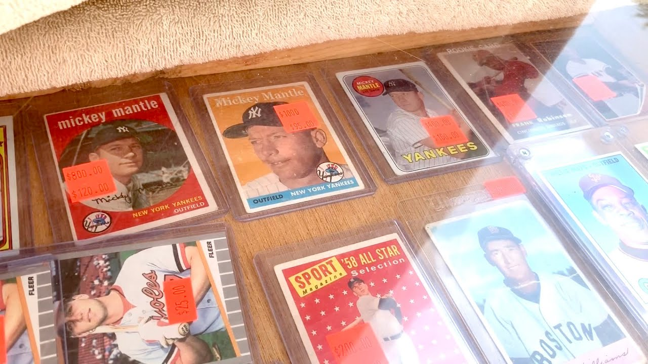 BUYING OLD BASEBALL CARDS AT THE FLEA MARKET!