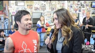 MANNY PACQUIAO SAYS HE RETURNED TO BOXING TO GIVE TO THE POOR/ WANTS VARGAS' WBO TITLE