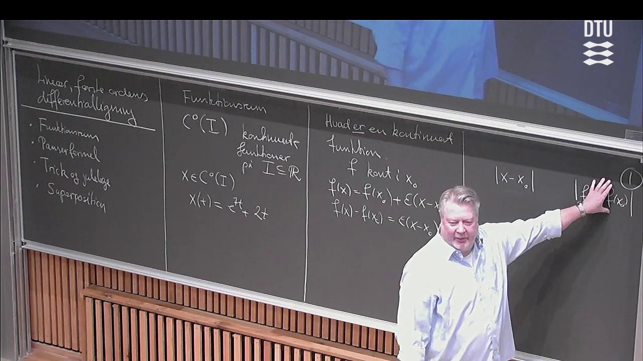 Uge 9 Store Dag (1/2) – Lineære 1.ordens Differentialligninger – DTU Mat 1 E18 (E17) Skema B Michael