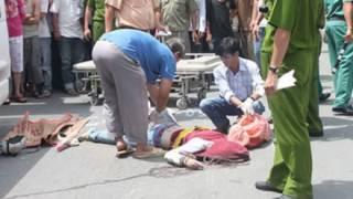 Tai nạn thảm khốc 5h chiều 22/8, hai nữ sinh đi xe đạp điện bị xe khách tông tử vong