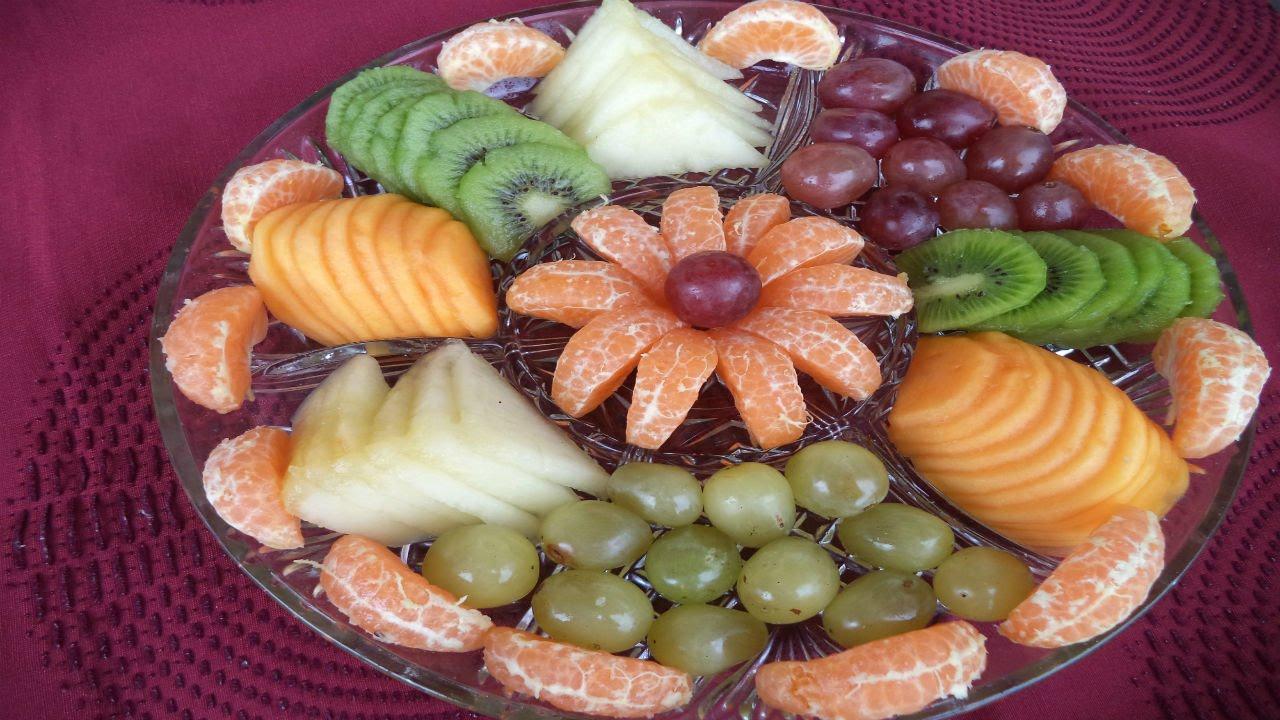 CÓMO PRESENTAR LAS FRUTAS EN LA MESA Recetas de Cocina YouTube -> Decoração De Frutas Para Mesa
