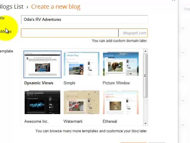 Create a Free Blog in 3 Steps using Blogger.com