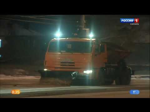 В Самаре борются с последствиями снегопада