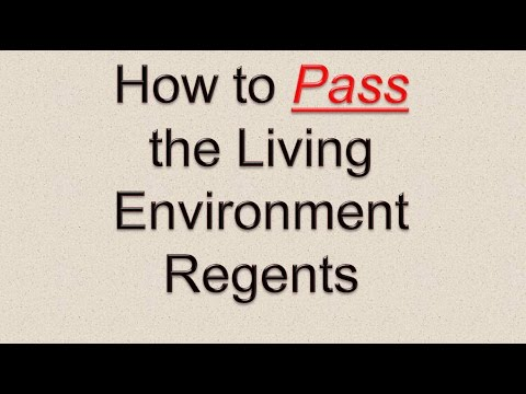 How to Pass the Living Environment Regents