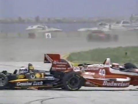 CART Cleveland 1993 Start pile up