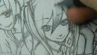 Vocaloid Drawing Sketch
