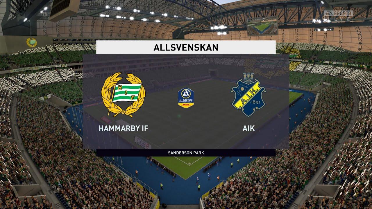 Fifa 20 Hammarby Vs Aik Allsvenskan 21 06 2020 1080p 60fps Youtube