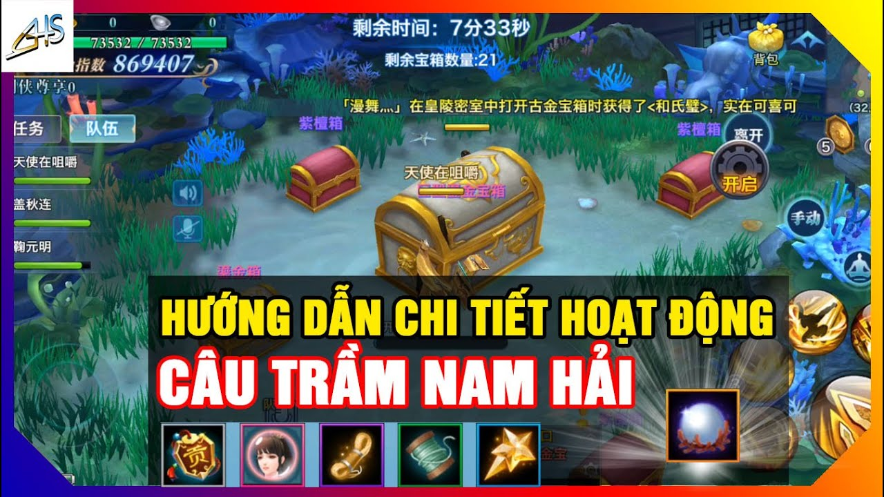 VLTK Mobile - Hướng dẫn chi tiết hoạt động Câu Trầm Nam Hải | Game Mobile