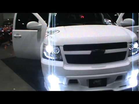 2012 Chevy Tahoe By Mirani Motors Angel Eyes Porjector LED Headlights HID Dub Show  YouTube