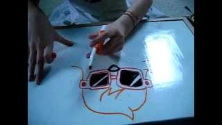 How to draw moshling Dj Quack Moshi Monsters