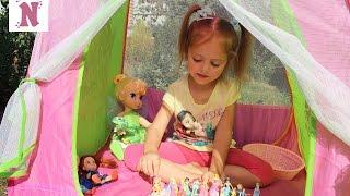 Куклы ПРИНЦЕССЫ ДИСНЕЯ Русалка Анна и Эльза Палатка Клуб Винкс Disney Princess doll