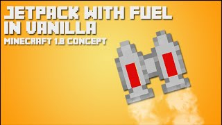Minecraft Tutorial: Jetpack with Fuel in vanilla [ITA]