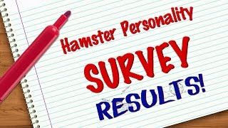 Hamster Personality Survey | RESULTS Thumbnail