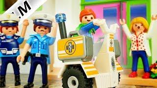 Playmobil Film deutsch JULIANS SEGWAY TOUR Polizei sucht gestohlenes Rettungsfahrzeug Kinderserie
