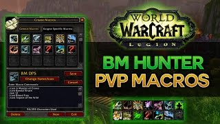 bm hunter pvp macros wow legion 7 0 3