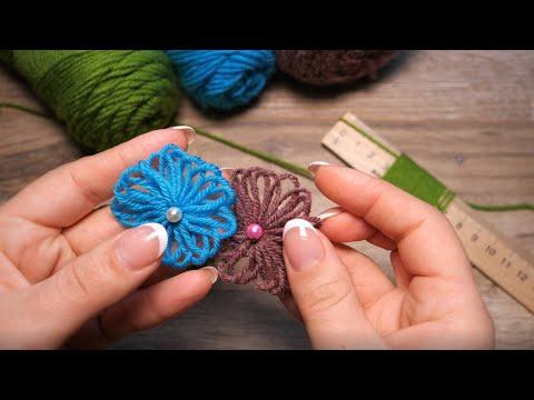 Легкий цветок делаем на линейке   Handmade Easy Flower   El Yapımı ışık çiçek