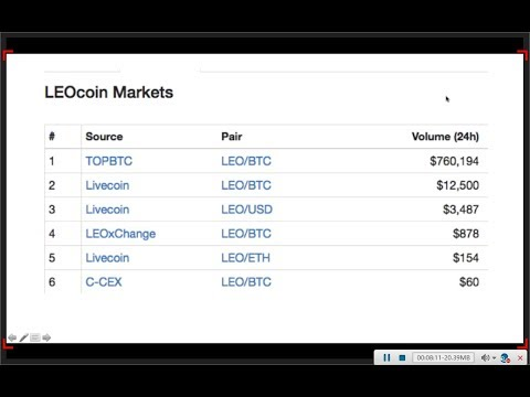 LEOcoins update and future