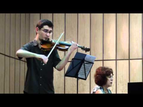 Elgar: Violin Sonata (2° mov.) - Pedro Barreto & Marina Kapitanova