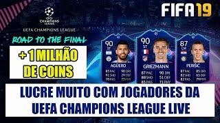 LUCRE MUITO COM JOGADORES UCL LIVE   FIFA 19 ULTIMATE TEAM