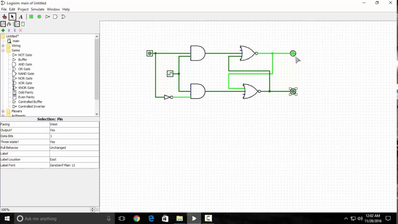 Pulse Counter Circuit Diagram Example Electrical Wiring 7 Segment Design D Flip Flop In Logisim Youtube 74ls47 Led Ic Of Using 2 Bit Relay