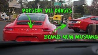 EPIC Chase  Brand New Mustang and Porsche 911 in India | #105