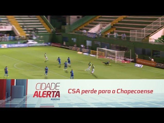 Futebol: CSA perde para a Chapecoense na Arena Condá
