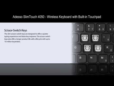 Adesso SlimTouch 4050   Wireless Keyboard with Built in Touchpad