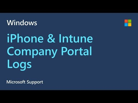 How To Collect Company Portal Logs From An Apple IPhone | Microsoft | Intune