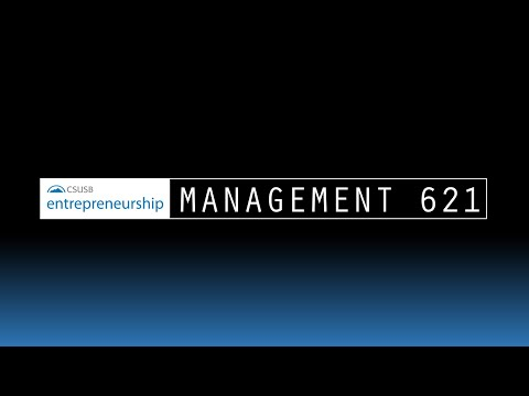 Introduction MGMT 621 - Entrepreneurship & New Ventures - Fall 2015