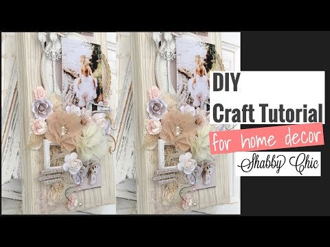 diy Shabby Chic Altered Canvas (DT Project for Reneabouquets)