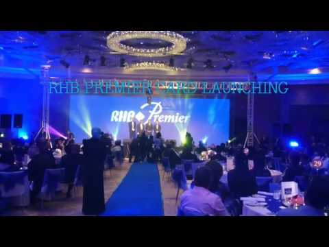 RHB PREMIER CARD LAUNCHING GIMMICK Led visual mapping MALAYSIA