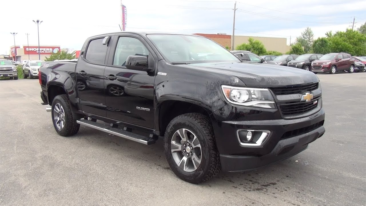 2017 CHEVROLET COLORADO CREW CAB 4-WHEEL DRIVE Z71 - BLACK - YouTube