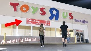 overnight challenge at closed down toys r us