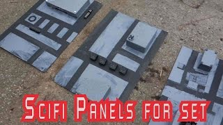 scifi panels construction bridge set