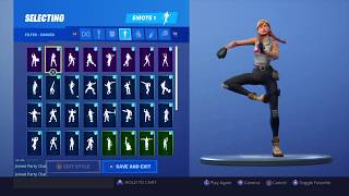 FORTNITE *AURA* SKIN SHOWCASE (BACKBLINGS AND EMOTES)