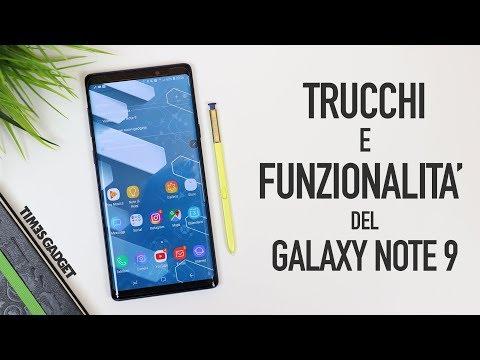 trucchi e funzionalità del Galaxy Note 9