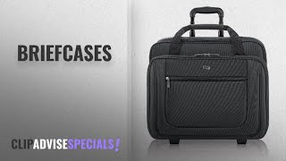 10 Best Briefcases [2018 Best Sellers]: Solo Bryant 17.3 Inch Rolling Laptop Case, Black