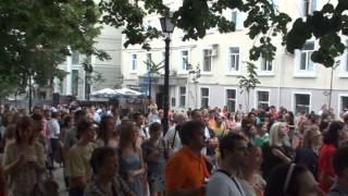 Concert de jazz pe strada pietonală #Chișinău