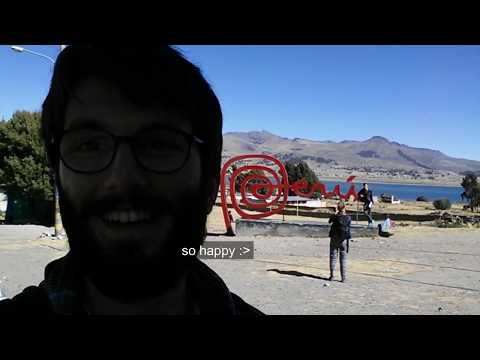 bus trip from la paz-bolivia  to puno-peru