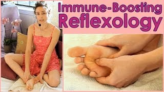 Reflexology for Allergies, Asthma, Stress! Immune Boosting DIY How to Self Foot Massage for Feet