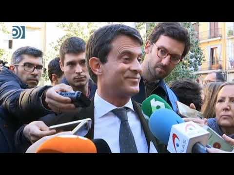"""Independentistas revientan un acto de Manuel Valls y éste vuelve a llamar """"fascista"""" a VOX"""