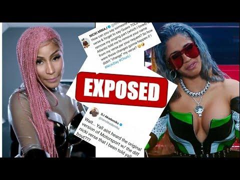 Nicki Minaj ORIGINAL Motorsport verse GETS POSTED and PROVES Nicki DID change LYRICS about CARDI B!