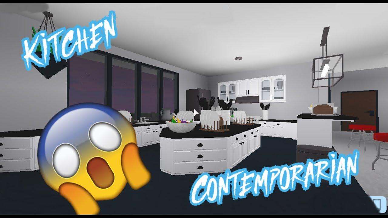 Roblox Contemporarian Kitchen Design 2 0 Roblox Rocitizen Designs Youtube