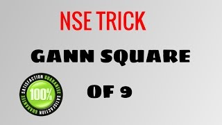 GANN SQUARE OF 9 -  NSE Trick and strategy by Smart Trader
