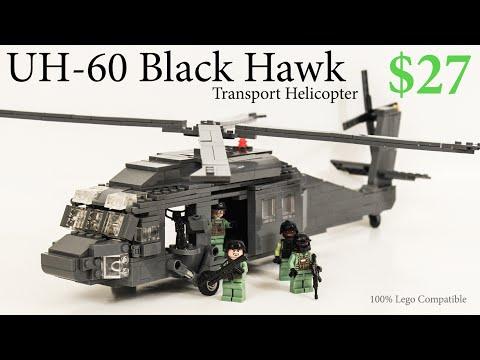 Lego UH-60 Black Hawk Helicopter Modern Warfare Battlefield